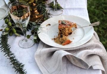 torta cioccolato, rosmarino, giardino, ricetta, accade in tavola