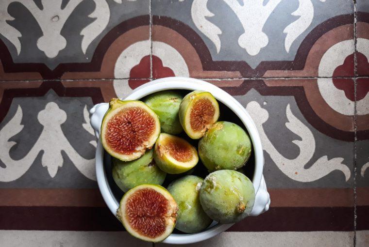 fichi, pavimento, vintage, floor frutta