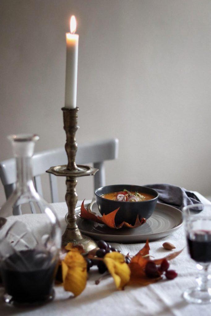 table setting, vellutata, ricetta, zucca