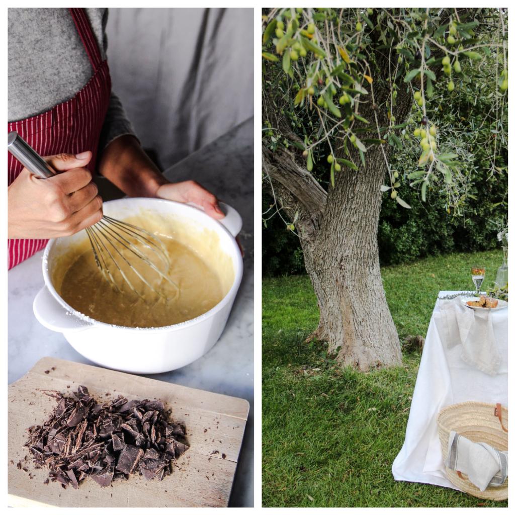 giardino, torta cioccolato e e rosmarino, ricetta, cucina