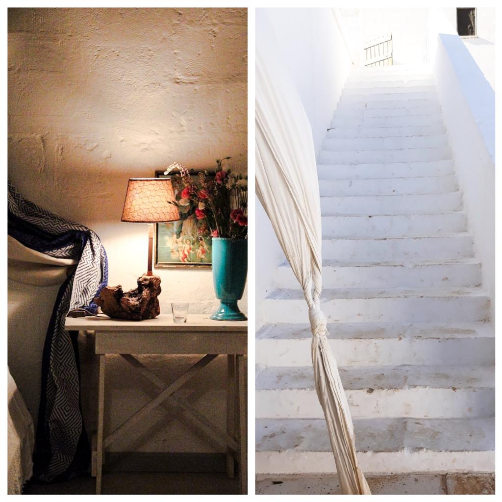 masseria, scale, charming room, abatjour