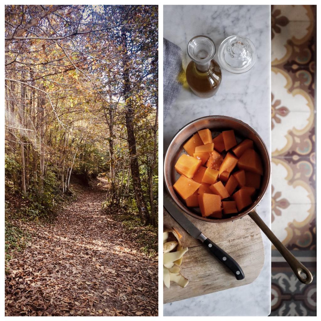 autunno, foglie, zucca