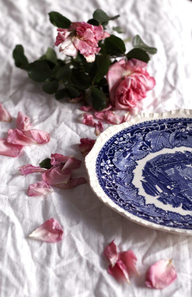 piatto vintage rose